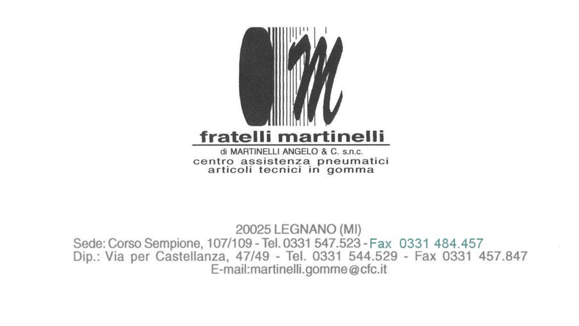 MARTINELLI FRATELLI S.N.C. DI MARTINELLI ANGELO