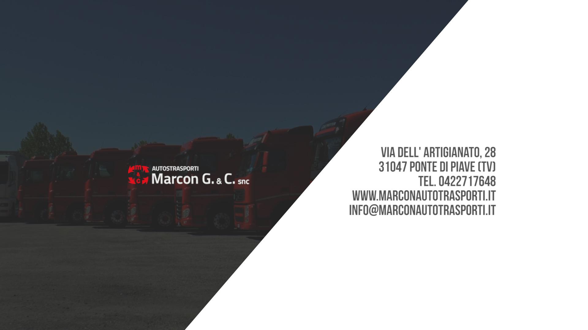 AUTRASPORTI MARCON G. + TRASPORTO MERCI E LIQUIDI ALIMENTARI + ODERZO