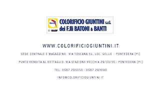 COLORIFICIO GIUNTINI DI F.LLI BATONI E BANTI S.R.L. + COLORIFICIO + PONTEDERA